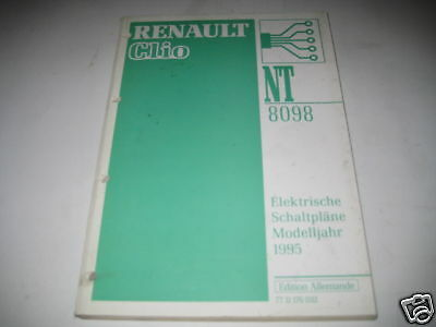wiring diagrams renault clio stand 1995  ebay
