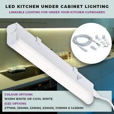 led 7w linkable kitchen under cabinet cupboard warm white strip light 395mm 830