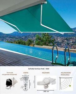 Realizzazione tende da sole motorizzate, personalizzate e di design. Tenda Da Sole A Bracci Estensibili Mod 9000 Su Misura 450 Colori Tempotest Ebay