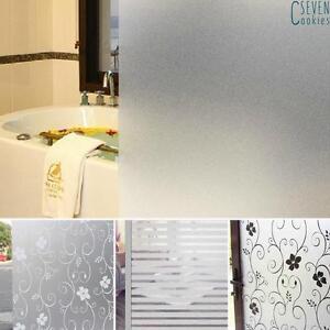details sur rouleau pvc mate autocollant sticke anti vue verre fenetre vitre salle bain mode