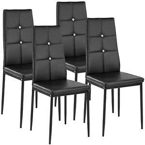 details sur 4x chaise de salle a manger ensemble meuble salon design chaises de cuisine noir