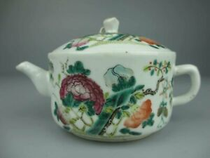 Antique Chinese Porcelain famille rose Pattern teapot