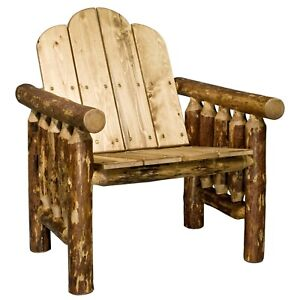 outdoor log chairs rustic patio chair