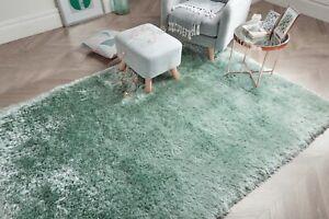 details sur petit large doux chunky thick long shaggy pile pearl vert menthe eau du nil tapis afficher le titre d origine