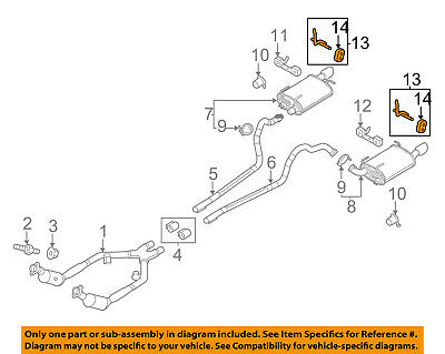 ford oem 11 14 mustang 3 7l v6 exhaust system hanger right br3z5277c ebay