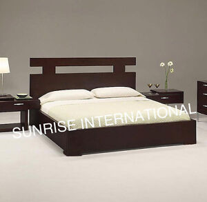 New Wooden Indian King Size Double Bed With Storage Under The Mattress