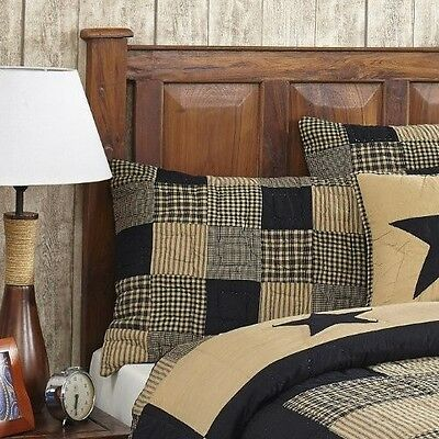 2 piece twin jamestown black tan quilted bedding set country primitive ebay