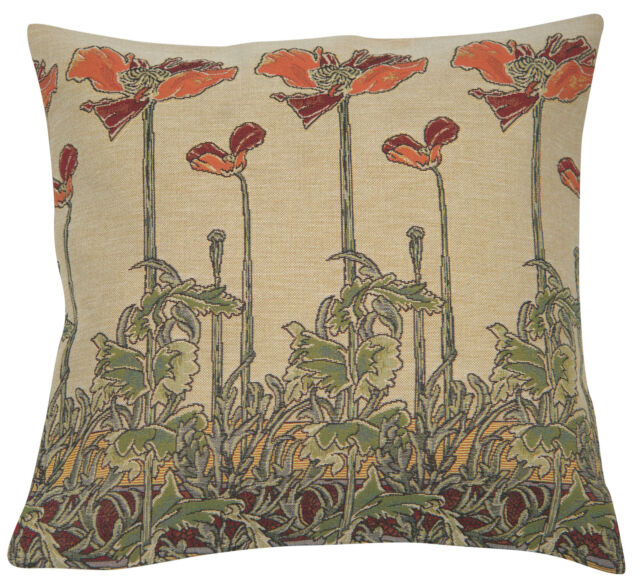 french tapestry decorative throw pillow cushion cover 18x18 champ art nouveau