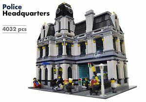 Lego Custom Modular Building  Police Headquarters Station     Image is loading Lego Custom Modular Building  Police Headquarters Station INSTRUCTIONS