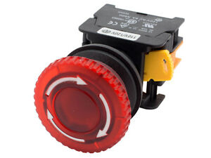 Mbl22 Ati Red 22mm Emergency Stop Push Button Switch 120v