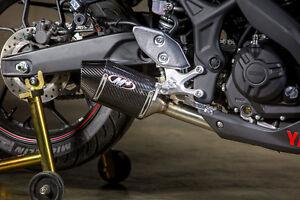 details zu m4 exhaust yamaha r3 2015 16 17 18 19 20 21 street slayer carbon fiber slip on