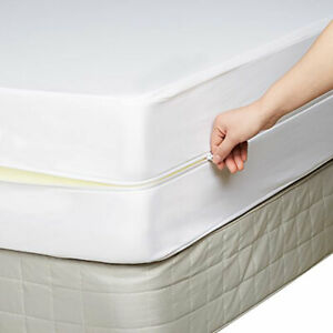 details about fully encased zipped waterproof mattress protector 25cm deep all sizes