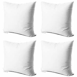 2 pack white decorative square pillow