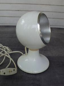 details sur luci ancienne lampe boule orientable par aimant italie vintage 1970