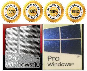1 X Pr0 Window 10 Silver Logo Sticker Decals Amp Free Pro Windows Blue 10 EBay