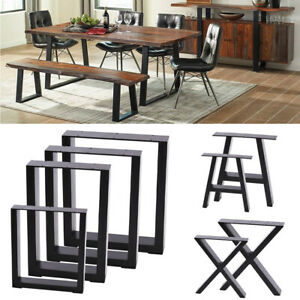 details about 2x coffee table legs bench metal industrial rustic x type trapezoid square legs