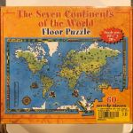 The Seven Continents Of The World Floor Puzzle 60 Pieces W Box Map Geography For Sale Online
