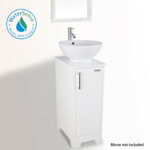 details about 13 small bathroom vanity round ceramic vessel sink set faucet combo drain white