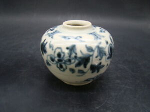 Chinese Ming Dynasty (1368-1644) blue white jar ( from John s. McCain Jr) d143