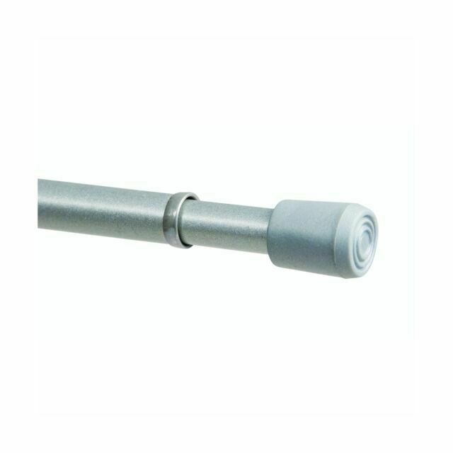 kenney spring tension curtain rod 28 to 48 inch pewter