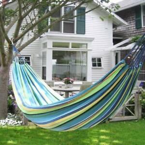 details sur hamac de jardin double grand lit suspendu camping balancelle transat terrasse