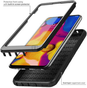 REFINED ARMOR SHOCKPROOF RUGGED Tank Phone Case Cover +BUILT-IN SCREEN PROTECTOR