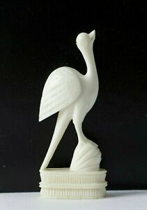 ANTIQUE CHINESE FIGURINE CRANE ON A PEACH CHINESE CARVING QING DYNASTY