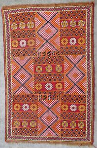 details sur tapis ancien rug oriental orient tribal berbere marocain maroc zemmour 1950