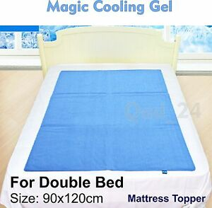 Image Is Loading Double Bed Magic Cooling Gel Blue Cool Pad