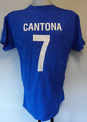 Eric cantona was highly influential for the reds; FRANCE RETRO ERIC CANTONA NUMBER 7 FOOTBALL TEE SHIRT MEN ...