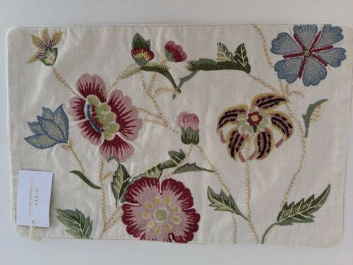 williams sonoma home aerin climbing floral embroidered lumbar pillow cover 14x22