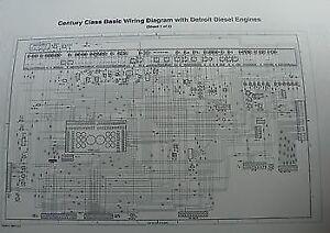 2000  Up Freightliner Century Columbia Wiring Diagram Schematic w Detroit D | eBay