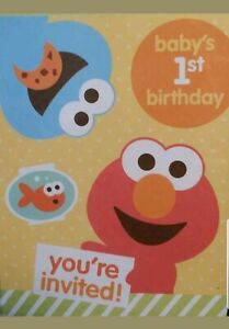details about sesame street babys 1st birthday party invitations elmo 10 cards