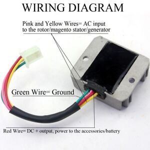 4 Wire Male Plug Voltage Regulator Rectifier For ATV Dirt Pit Bike Scooter Moped | eBay