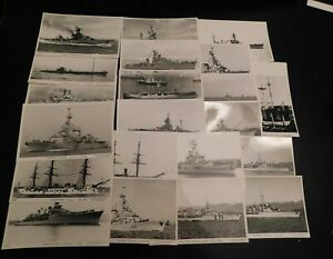 Lot of 21 Marius BAR RPPC photo postcards French Warships ...