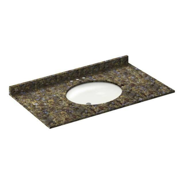 lesscare blue butterfly granite vanity top 43 in x 22 in with backsplash 4 i