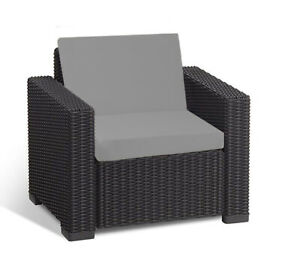 details sur keter allibert california cushion pads rotin mobilier de jardin fauteuil gris afficher le titre d origine