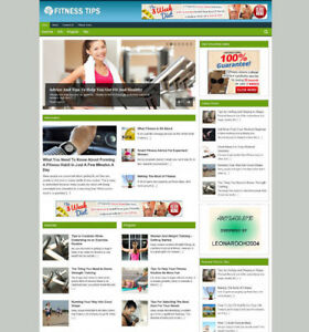 FITNESS ADVICE WEBSITE FOR SALE WITH ARTICLES AFFILIATE STORE