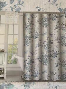 details about envogue watercolor small floral design shower curtain blue mint green cotton
