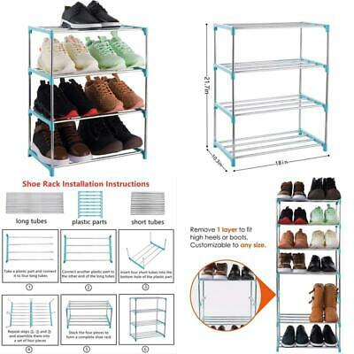 xerhnan blue 4 tier stackable lightweight small shoe shelf storage organizer 726084070509 ebay