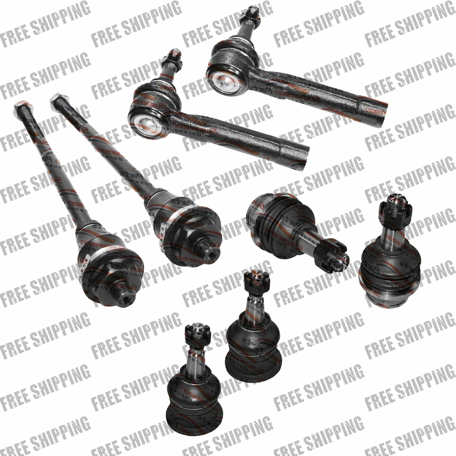 Front Steering Chassis Kit Tie Rod End Ball Joints For Gmc Sierra Hd 01 10