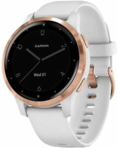 Garmin vivoactive 4S White and Rose Gold GPS Smartwatch 010-02172-21