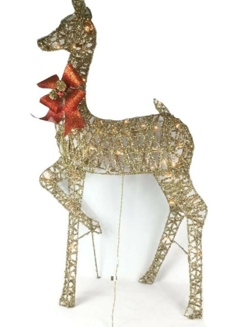 Lighted Deer Family Outdoor Yard Decor