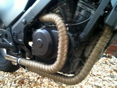 2 x 100 titanium exhaust heat wrap for
