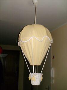 details sur suspension luminaire lampe chambre enfant bebe montgolfiere jaune blanc
