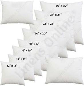 details about cushion pads inners fillers inserts 12 14 16 18 20 22 24 26 28 all sizes
