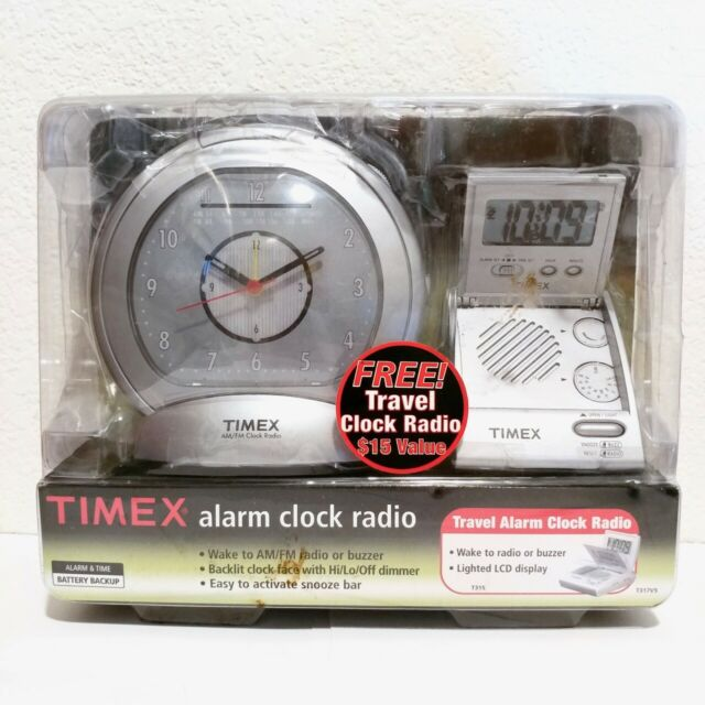 Portable Travel Lcd Alarm Clock Radio