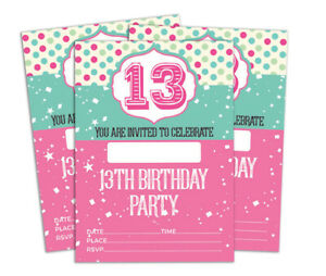 details about birthday invitation card 28 pcs blank invites printable party supplies ds in147a