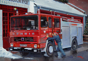 Dennis London Fire Brigade Fire Engine Fireman Euston