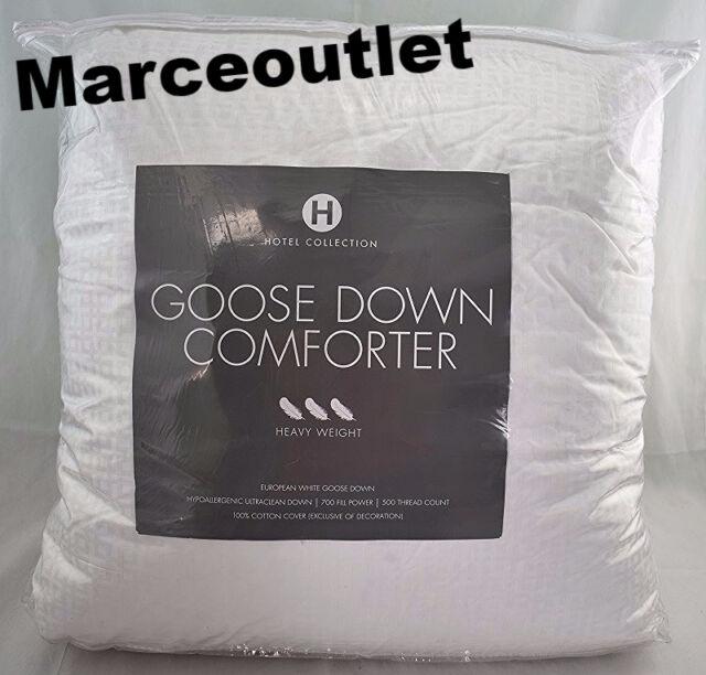 hotel collection european goose down medium comforter size king white